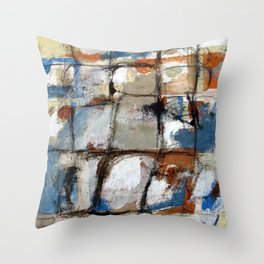 Morning After Blues Throw Pillow