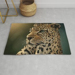 Leopard drawing Rug