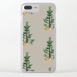 Forest Whimsy Clear iPhone Case