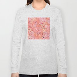 Little flowers on Living coral, peach and pink Long Sleeve T-shirt