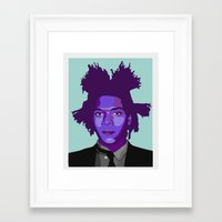 basquiat Framed Art Prints featuring Basquiat by Grace Teaney Art