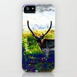 Psychedelic Rain Deer iPhone Case