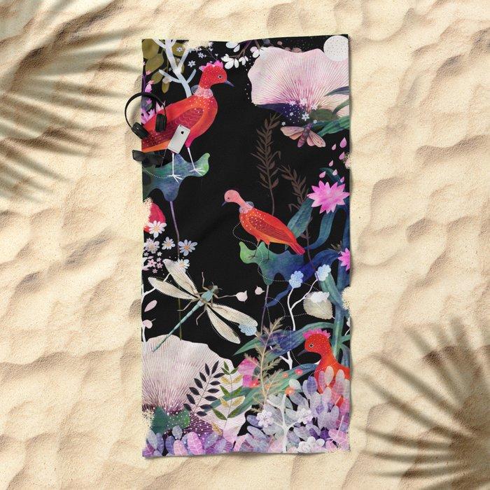 enchanted night Beach Towel