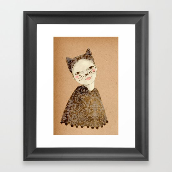 Kiki Kitty Framed Art Print