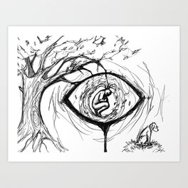 nature's eye Art Print