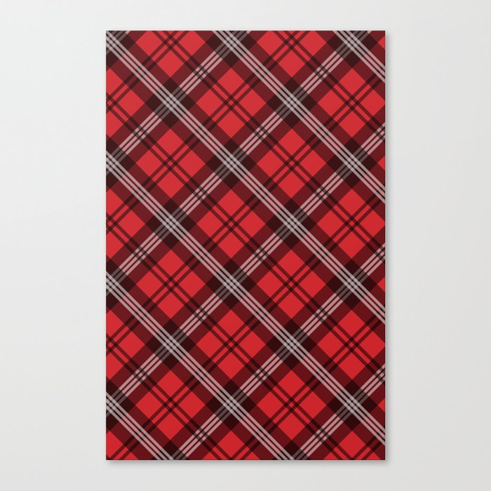 Scottish Plaid (Tartan) - Red Canvas Print