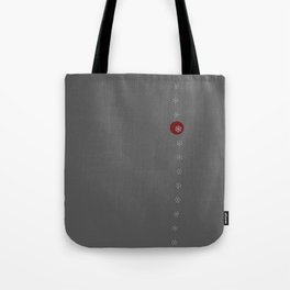 Snowflakes on Gray background Tote Bag