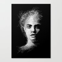 cara Canvas Prints featuring CARA by naidl