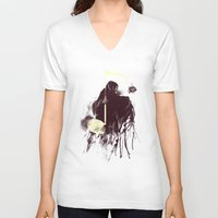 death note V-neck T-shirts featuring Death Note by Tobe Fonseca
