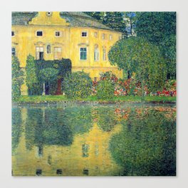 "Gustav Klimt ""Schloss Kammer on the Attersee IV"" Canvas Print"