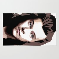 harry styles Area & Throw Rugs featuring HARRY STYLES Vector Portrait by LsArtistry