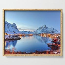 Lofoten islands, Norway Serving Tray