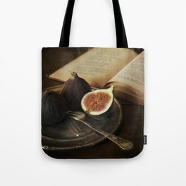 An old books and fresh figs Tote Bag