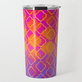 Bold Vivid Vibrant Colorful Pink Orange Gold Travel Mug
