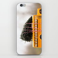 christmas tree iPhone & iPod Skins featuring Christmas Tree by Beverly LeFevre