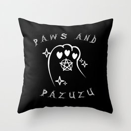 Paws & Pazuzu Throw Pillow