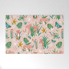 Endangered Wilderness - Blush Pink Welcome Mat