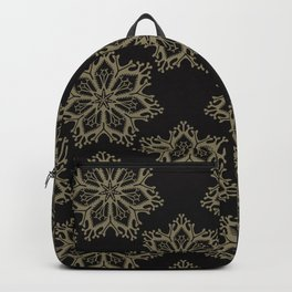 Yoga Arabesque Snowflake Mandala Backpack