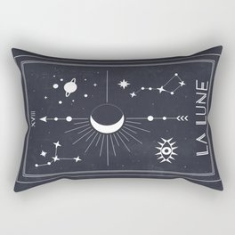 The Moon or La Lune Tarot Rectangular Pillow