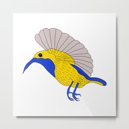 Olive backed sunbird Metal Print