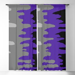 Splash of colour (purple & gray) Blackout Curtain