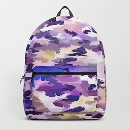 Foliage Abstract Camouflage In Pale Purple and Violet Pastels Backpack