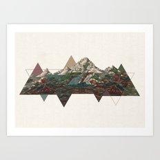 This mountain light Art Print