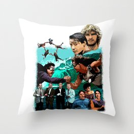 Surf and Sky at Point Break Throw Pillow