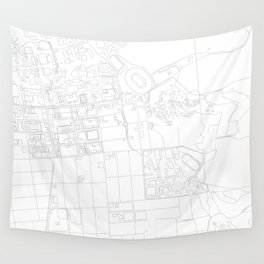Abstract Map of UC Berkeley Campus Wall Tapestry