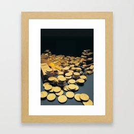 Gold Coins Framed Art Print