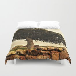 The tree and tue wall Duvet Cover