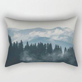 Forest mountains fogs & clouds Rectangular Pillow