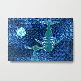 Deep Into Your Ocean Metal Print