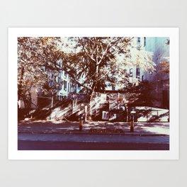 fence tree Art Print