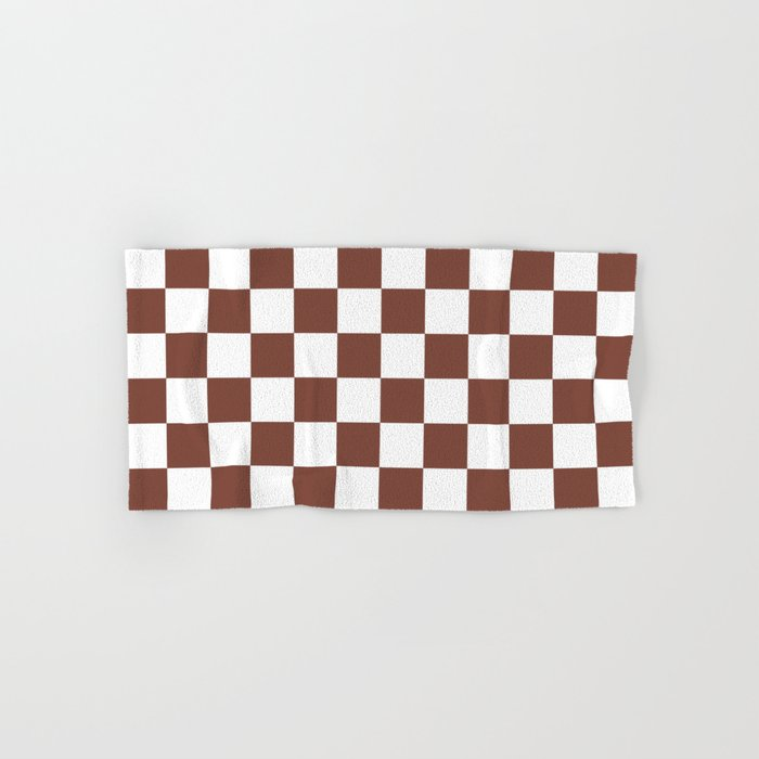 Checkered Brown White Pattern Hand