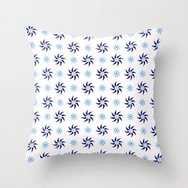 stars 108- blue Throw Pillow