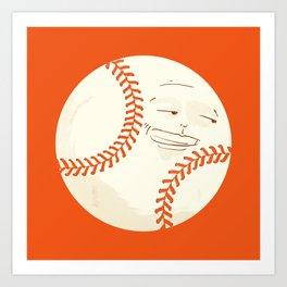 Happy Baseball Art Print