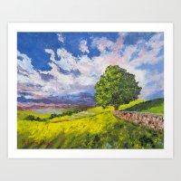 Dazzling Sky Pallet Knife Painting Art Print