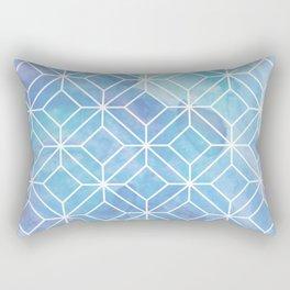 Geometric Crystals: Mermaid Galaxy Rectangular Pillow