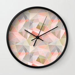 Broken glass in warm colors. Wall Clock