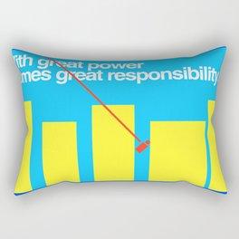 Minimal Superhero Poster Rectangular Pillow