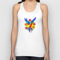 parrot Tank Tops featuring Parrot by lescapricesdefilles
