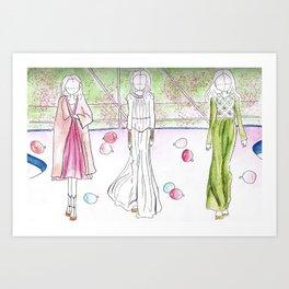 Paris Haute Couture gowns Art Print