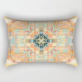Aztec Inspired Orange Pattern Rectangular Pillow