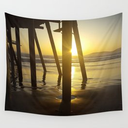 Pismo Beach Pier in the Sunset Wall Tapestry