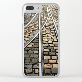 Rails and Cobbles Clear iPhone Case