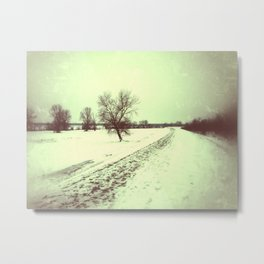 vintage winter Metal Print