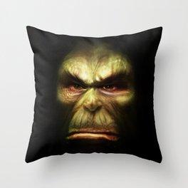 Orc face Throw Pillow