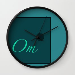 Om Blue Wall Clock