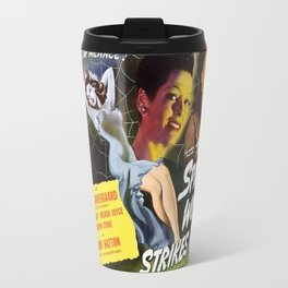 Spider Woman Strikes Back, vintage horror movie poster Travel Mug